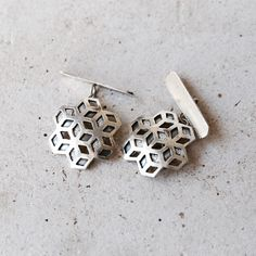 Sterling silver cuff-links by Metal and Grete