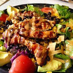 #salad #salsa #bajafresh #foodie #bajafreshmexicangrill #eatwelllivefresh Mexican Grill, Eating Well, Salsa, Fresh, Meat, Chicken, Food, Essen, Salsa Music