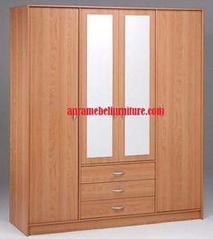 Lemari Pakaian | Minimalis 4 Pintu | Kayu Jati | Model Mewah merupakan salah satu produk unggulan dari aura mebel furniture yang memiliki desain minimalis