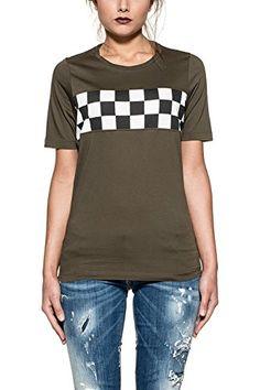 Dsquared2 Women's S72gc0964s22427710 Green Cotton T-Shirt. UK t-shirt. t-shirts. Women t shirt. Women t shirts. It's an Amazon affiliate link.