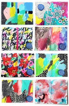 alisaburke: a peek inside my art journal: fast and messy pages