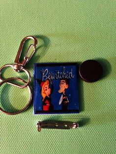 Mini TV Scripts-Keychains Pins & Magnets: by GidgetsTreasures #gidgetstreasures #minitvscripts #bewitched #keychains #pins #magnets #elizabethmcgovern