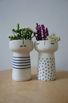 Ceramic Vases from Vanessa Bean Shop. Find out more about the talented lady behind this brand over on the blog.