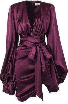 Shop Alexandre Vauthier Burgundy Silk-blend Mini Dress and save up to EXPRESS international shipping! Classy Outfits, Chic Outfits, Pretty Outfits, Dress Outfits, Fashion Dresses, Dress Up, Alexandre Vauthier, Look Fashion, Womens Fashion