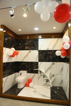 Varmora boosts its pan-India presence with the inauguration of its exclusive tiles showroom - Raju Paints & Sanitary House at Ladwa, Haryana Kitchen And Bath Showroom, Tile Showroom, Bathroom Interior Design, Tiles, Gift Wrapping, India, Ceramics, Table Decorations, House