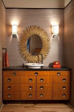 LoDo Loft - contemporary - Powder Room - Denver - laurel quint interior design