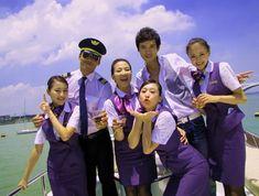The beautiful stewardesses in Xiamen Airlines Xiamen, Beautiful