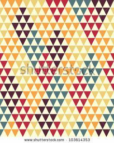 Seamless geometric pattern by Radiocat, via ShutterStock Shape Design, Pattern Design, Triangle Print, Inspirational Wallpapers, Print Wallpaper, Geometric Patterns, Color Inspiration, Color Pop, Shapes