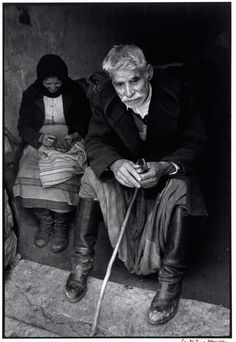 Blind man in doorway of his house, Crete, Greece, 1964 - Greek America Foundation; Photograph by Constantine Manos, Magnum Photographer Greece Photography, Still Photography, Street Photography, Crete Greece, Athens Greece, Greece Pictures, Costa, Old Greek, Crete Island