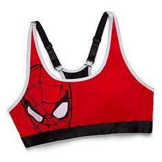 The ultimate in comic-themed underwear, this Spider-Man Sports Bra will be sure to get somebody's Spidey Senses tingling. Spiderman Outfit, Spiderman Shirt, Marvel Dc Movies, Marvel Fashion, Best Sports Bras, It Goes On, Sport Wear, Workout Wear, Sports Women