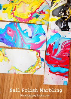 Nail Polish Marbling: A fun and easy way to make beautiful papers with your kids!