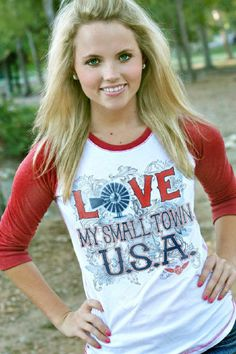 If you're anything like us- you love your small town. What a cool way to show it off with this baseball sleeve tee from ATX Mafia- on the way! Country Girl Style, Cute N Country, Country Fashion, Country Outfits, Country Girls, Before And After Weightloss, Small Town Girl, Thats The Way, Cute Shirts