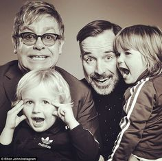 Find out why Elton John isn't leaving his fortune to his kids. Singer and hubby David Furnish are dads to two boys, Zachary and Elijah Elton John Partner, Elton John Husband, Lady Gaga News, David Furnish, Captain Fantastic, Believe, Perfect Marriage, Best Albums, Amor