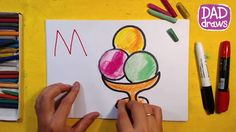 How to draw colored ice cream / Art for Kids
