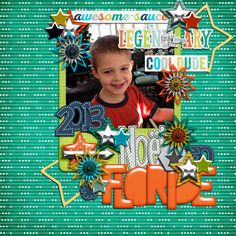 Digital Scrapbook Page by Marie-France | Cool Story, Bro by Bella Gypsy
