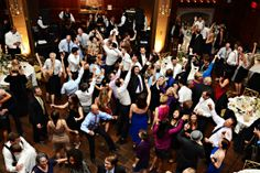 Wonderful Aerial Shot of the Dance Floor at this Wedding #wedding #photography