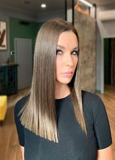 Side Swept Waves for Ash Blonde Hair - 50 Light Brown Hair Color Ideas with Highlights and Lowlights - The Trending Hairstyle Chocolate Brown Hair Color, Brown Ombre Hair, Light Brown Hair, Light Hair, Dark Purple Hair Color, Brown Hair Colors, Ash Hair, Brown Blonde Hair, Short Lavender Hair