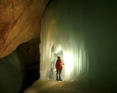 Eisriesenwelt, Austria is a cave outside of Salzburg, Austria. Tour season is from May to October