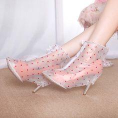 fashion Wholesale cheap foldable high heel rain cover shoes