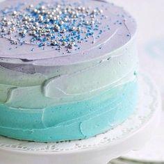 Pretty Ombre Wedding Cake-
