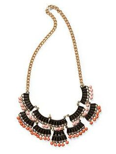 Sabine Black and Pink Scallop Necklace | Piperlime