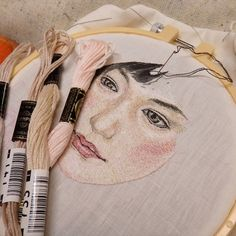 Embroidery without textbooks is always very difficult. It is too difficult for me to stitch a human face. I could not embroider the eyes,…