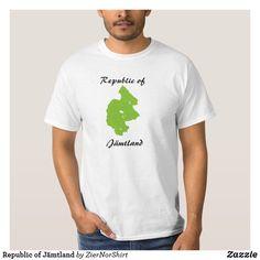 Republic of Jämtland T-Shirt Funny Cute, Rib Knit, Fitness Models, Kids Shop, Fabric, Mens Tops, How To Wear, T Shirt, Cotton