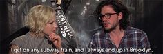 """He's not very good with public transport. 