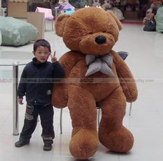 "63"" Teddy Bear  http://www.joyfay.com/us/giant-huge-63-teddy-bear-stuffed-plush-animal-toy.html"