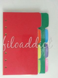 Rainbow Planner Dividers (8 tabs) - Filofax, Arc, Day Timer or Franklin Covey Dividers