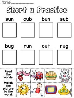 Phonics Center Activity Worksheets or Homework for the Entire Year! 41 weeks of phonics practice... each worksheet focuses on a specific phonics sound found in the top right corner