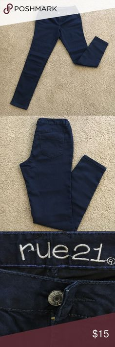Rue21 Navy Blue Regular MidRise Jegging Never worn-brand new/no ticket since I anticipated I would wear them and didn't. Rue21 Jeans Skinny