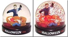 God, I'm such a nerd. This is ace. :D Halloween snow globe with red particles…so it's actually a blood globe
