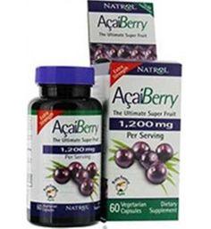 60 cápsulas de Acai Berry Extra Strength 1200mg. Natrol. Antioxidante, desintonxicante, peso, saciedad, omega.  Tiene efecto antioxidante, neutralizandor los radicales libres, los cuales son moléculas que provocan daño celular y generadas debido a esfuerzos físicos y factores externos, tales como la contaminación. Sistema inmunológico. Salud celular y efecto anti-aging.