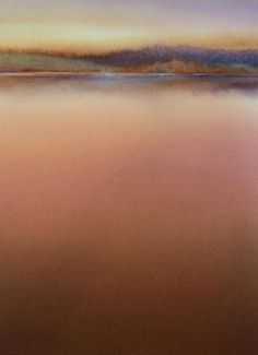 Abstract Landscape by Nanci Yermakoff ... serene explorations of color and texture evoke still water Series 7 #9