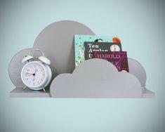 Nursery In the Clouds 5 pc Set by ShopLittles on Etsy - Children's room - Cloud Shelves, Wall Shelves, Diy Shelving, Baby Bedroom, Kids Bedroom, Bedroom Murals, Kid Spaces, Kids Decor, Nursery Decor