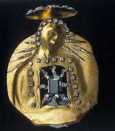 Salvador Dali -Madonna of the Aquamarine