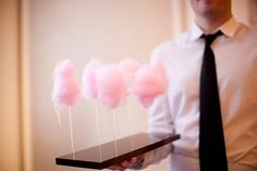Classy candyfloss!Peter Callahan Cotton Candy Lollipops {Bit by Bite Book Signing Party, Photo: Mel Barlow}