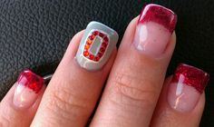 Ohio State Buckeyes! Love this sooo doing my nails like this!