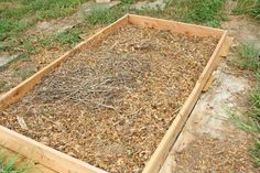composting in garden bed