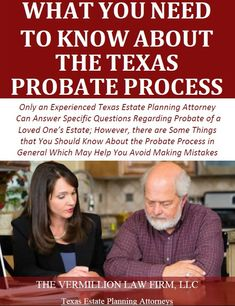 The death of a family member or loved one is often filled with grief, loss, and confusion. In addition to the emotional turmoil a death often causes, someone must handle the legal aspects of the death. In Texas, this often requires probating the decedent's estate. Probate is the legal process by which the debts of [ ] The post Free Report: What You Need to Know About Texas Probate Process appeared first on Vermillion Law Firm LLC.