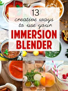 13 Creative Recipes Using Your Immersion (or Stick) Blender-Tap The Link Now! To Purchase These Products :) Immersion Blender Recipes, Ninja Blender Recipes, Ninja Recipes, Blender Food Processor, Food Processor Recipes, Vegetarian Recipes, Cooking Recipes, Healthy Recipes, Healthy Food