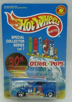 1999 HOT WHEELS OTTER POPS 30TH ANNIV. SPECIAL COLLECTOR SERIES 1 VAN 1:64 NEW