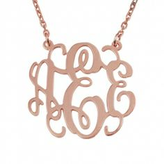 Rose Gold Over Silver Monogram Necklace - now 20% off! (limited offer, ends May 11th - applied at checkout)