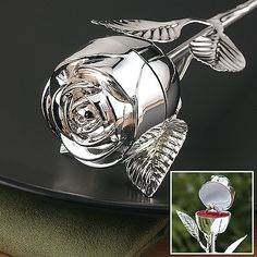 Rose Ring Box...... Way cuter than a ring pillow and safer no dropping the ring