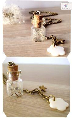 Collar diente de león bronce / ★★ Kandy Diseños ★★ - Artesanio