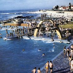 The pools along the Sea Point coast have an interesting history in that for decades people have enjoyed bathing. Today there is still the Milton Pool. Provinces Of South Africa, Cape Town South Africa, India Travel, Live, Places To See, Swimming Pools, Surfing, History, Sea