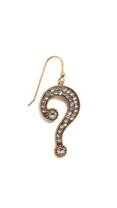 Marc Jacobs Single Question Mark Earring