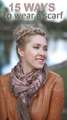 Learn how to wear a scarf around your neck in 15 different ways in my tutorial http://www.youtube.com/watch?v=3wyfgypQIII