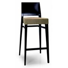 Montbel Collection Timberly Cream and Dark Wood Barstool 01781